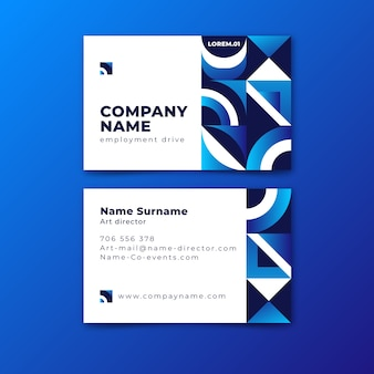 Abstract classic blue business card template