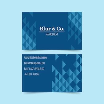 추상 클래식 블루 명함 서식 파일