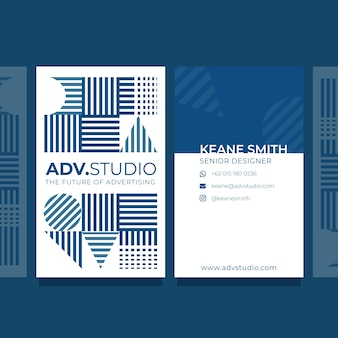 Abstract classic blue concept business card