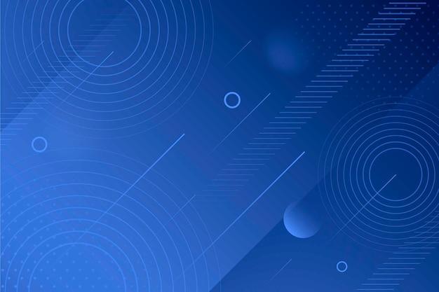 추상 클래식 블루 스크린 세이버