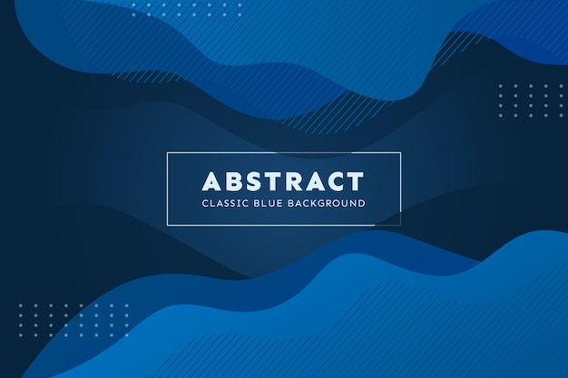 Abstract classic blue wallpaper concept
