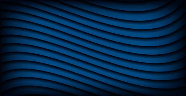 Abstract classic blue wavy design background color of year