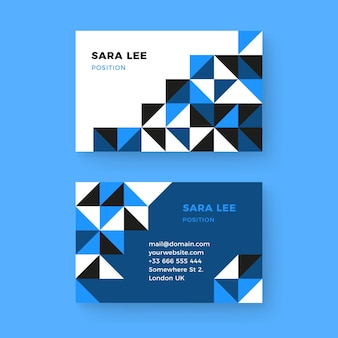 Abstract classic business card template
