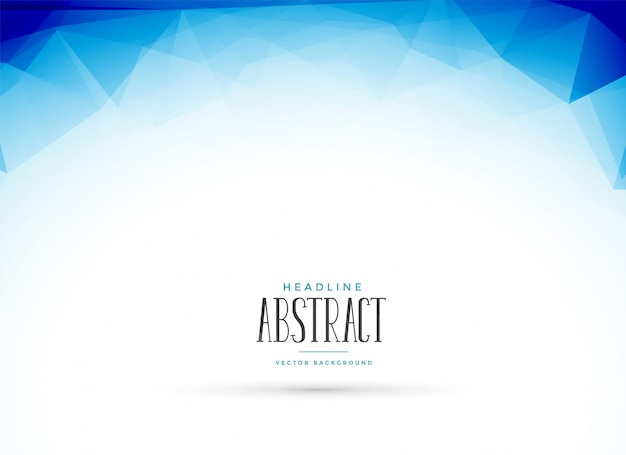 Abstract clean blue low poly geometric background