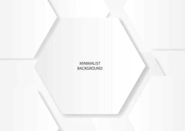 추상 깨끗 한 흰색 육각형 모양, eps 10 벡터 배경