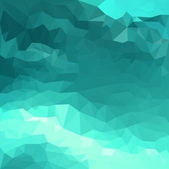 카드, 초대장, 포스터, 배너, 현수막 또는 빌보드 표지 디자인에 사용하기 위한 추상 맑은 바닷물 색 다각형 삼각형 배경