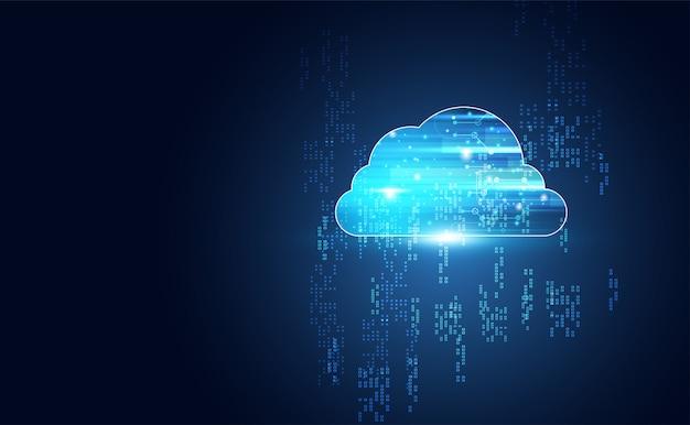 ビッグデータと接続の背景を持つ抽象的なクラウドテクノロジー
