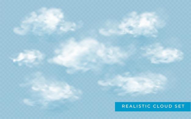 抽象的な雲が設定されます。