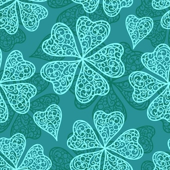 Abstract clovers pattern