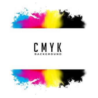 抽象的なcmyk水彩スプラッタ背景