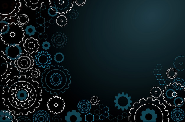Abstract cogs wheel background