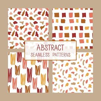 抽象的なコラージュのシームレスなパターンセット