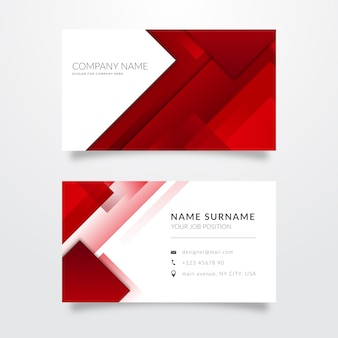 Abstract collection of business cards