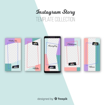 Abstract collection of instagram stories templates