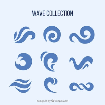 Abstract collection of waves