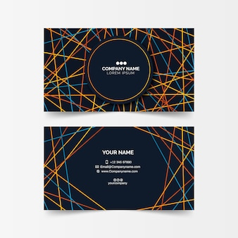 Abstract collection template business card template