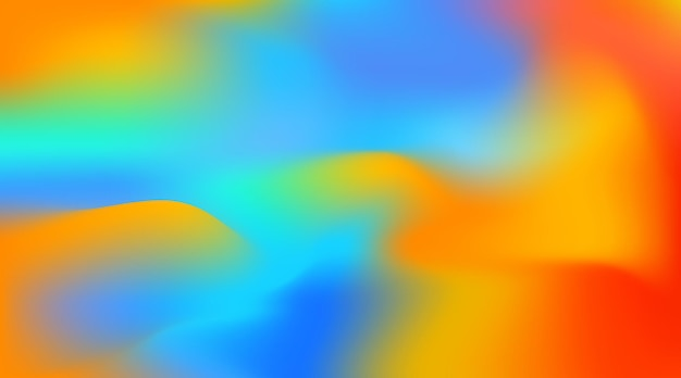 Abstract color blur overflow background multicolour vector