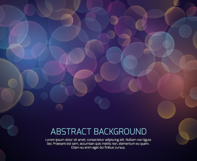 Abstract color bokeh vector background