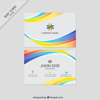 Abstract color business cards