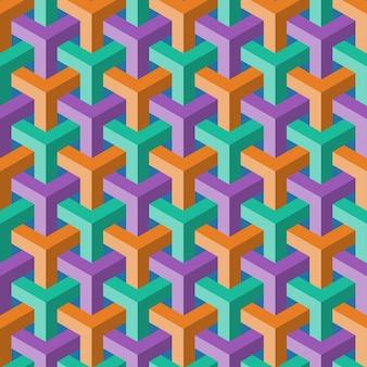 Абстрактный цветной куб бесшовные модели