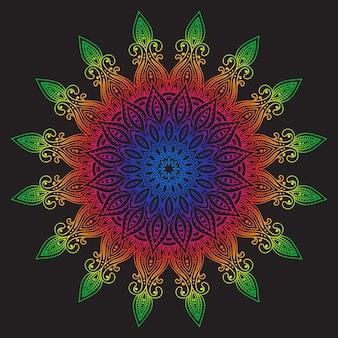Abstract   color design mandala, decorative element