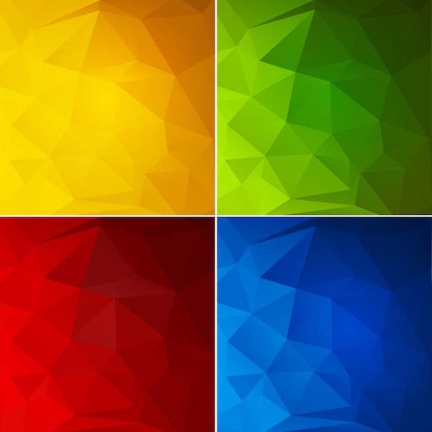 Abstract color geometric background set