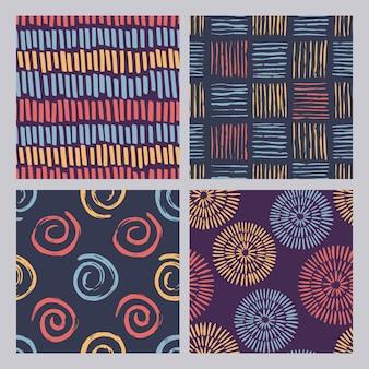 抽象的な色グランジテクスチャパターン