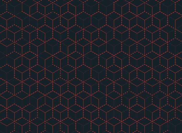 Abstract color hexagon technology of modern background.
