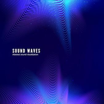 抽象的なカラー音楽アルバムカバー。音波のエネルギー。デジタル音楽の視覚化。