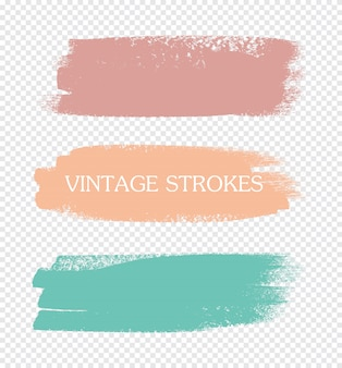 Abstract color paint strokes