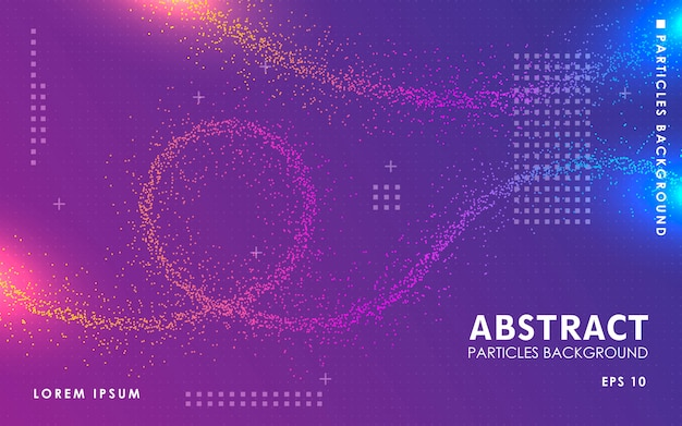 Abstract color particles background