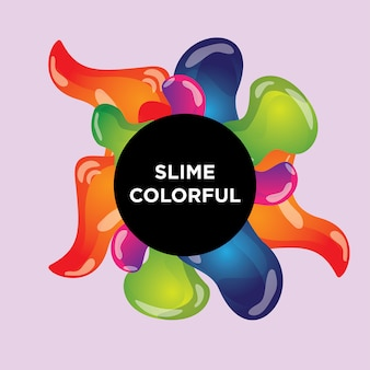 Abstract color slime cover design with gradient