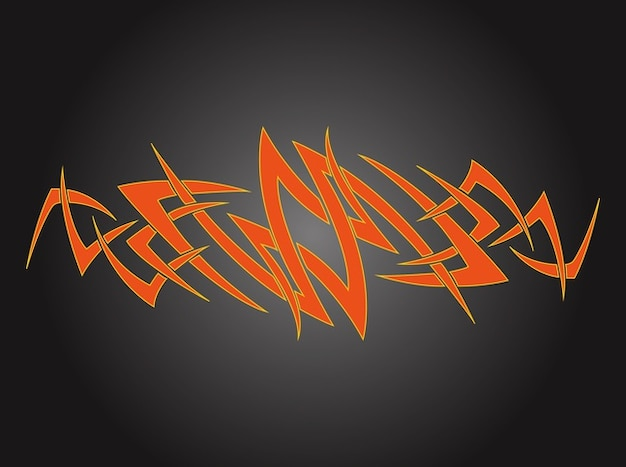 Abstract color tattoo design vector