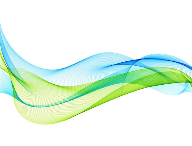 Abstract color transparent wave.