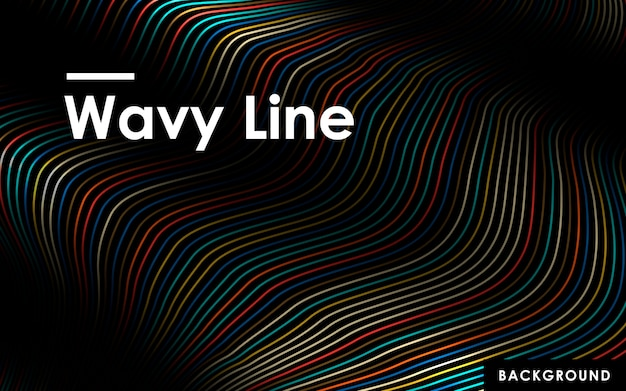 Abstract color wavy lines background