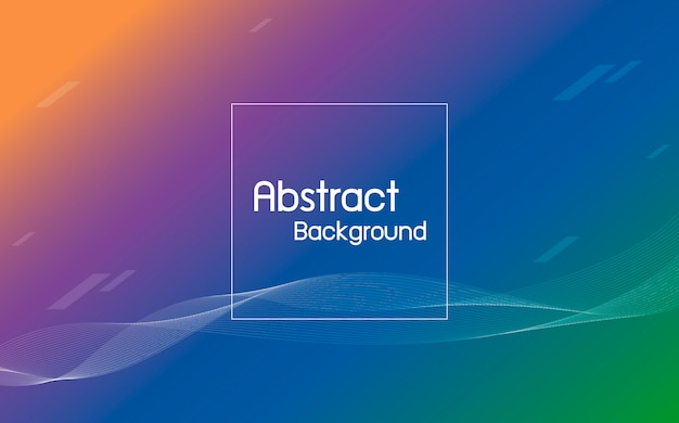 Abstract color with line wave background