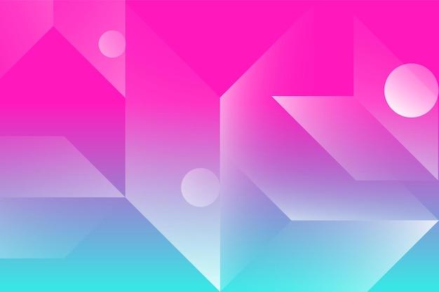 三角形の円と線から抽象的な色の背景