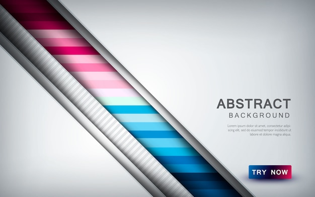 Abstract colored background with overlap layer