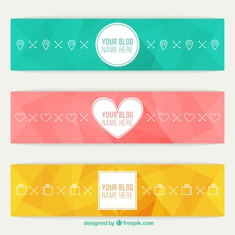 Abstract colored blog headers