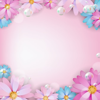 Abstract colored natural flower background.  illustration