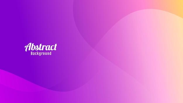 추상적인 색된 보라색 분홍색과 주황색 파도 배경 디자인