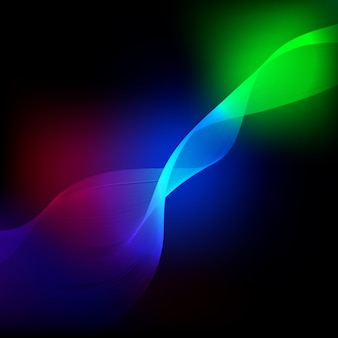 Abstract colored wave element for design.