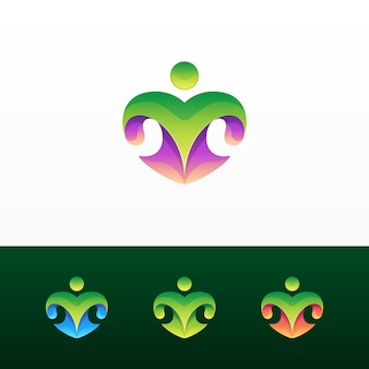 抽象的なcolorfuのロゴとバリエーション