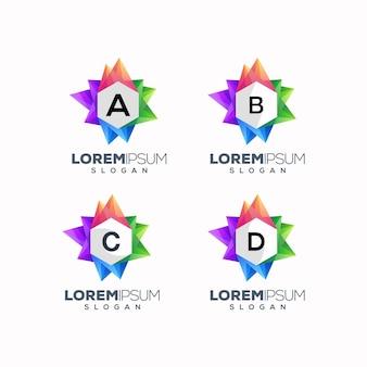 抽象的なカラフルなabcdロゴデザイン