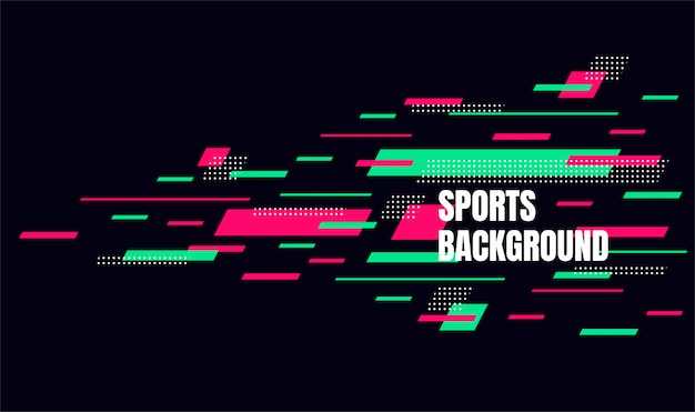 Abstract colorful art for sports background. dynamic particles