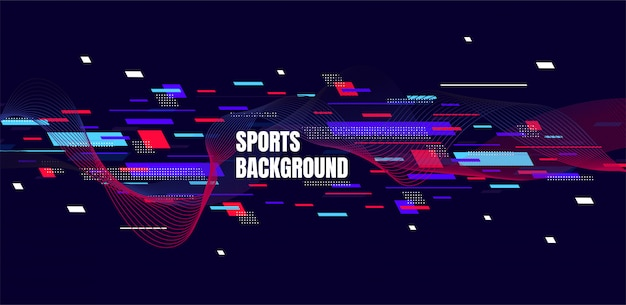 Abstract colorful art for sports background.