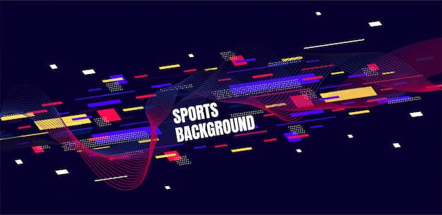 Abstract colorful art for sports background
