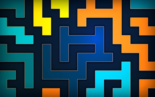 Abstract colorful background pixel art