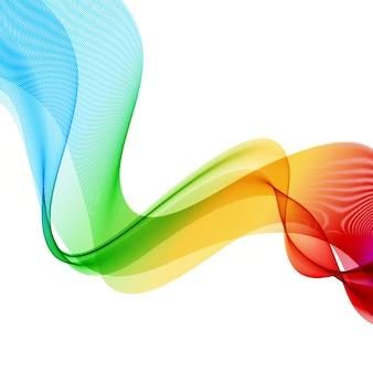 抽象的なカラフルな背景。スペクトル波。