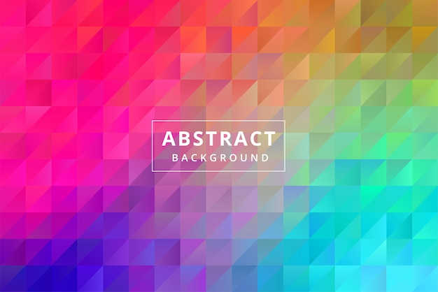 Abstract colorful background wallpaper with hexagon polygonal polygon shape premium vector